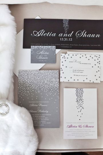 Invitations and other paper products designed to keep within the theme of the evening.