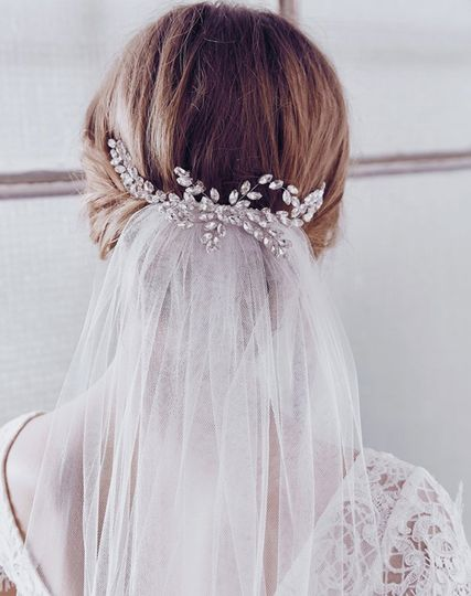 Veil with updo
