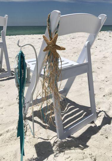 Beach chair decor