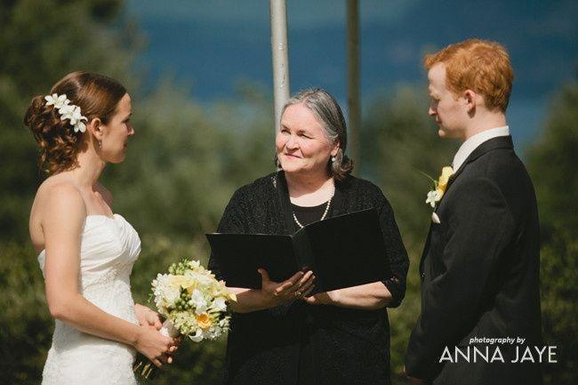 Maureen Haley, wedding officiant at Skamania Lodge Washington, best outdoor wedding venue