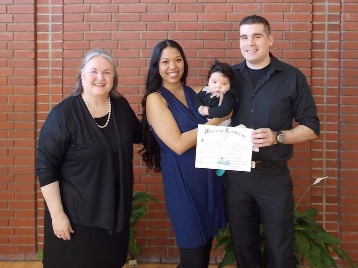 Oregon elopement wedding with Rev. Maureen Haley, Beaverton wedding chapel