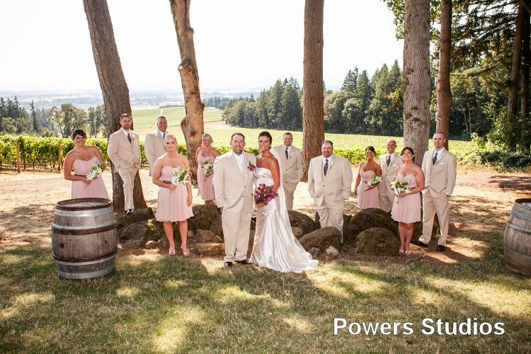 Vista Hills Vineyard wedding with Rev. Maureen Haley, photos by Powers Studios