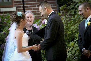 McMenamins Grand Lodge wedding, Rev. Maureen Haley officiates