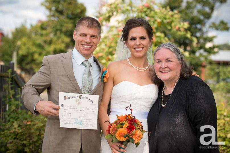 Portland wedding officiant, Maureen Haley, The Fields Park wedding, Alyson Levy Photography, Thank...
