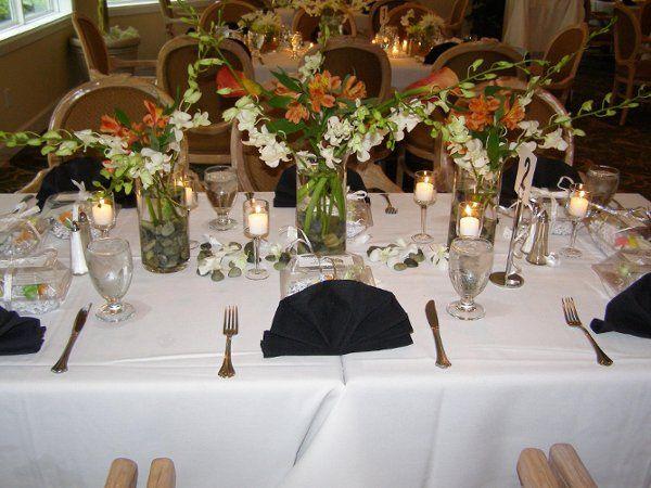 Table setup for a wedding
