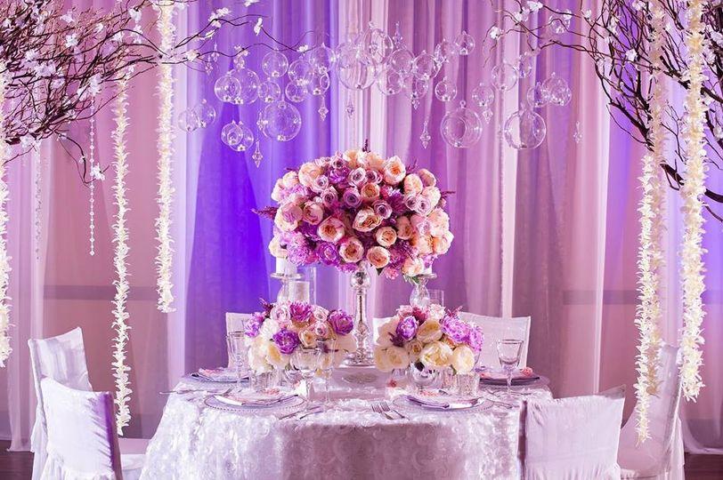 pink purple romantic wedding decor 10