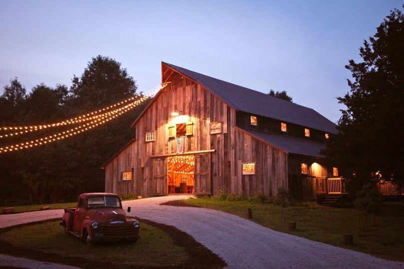 Barn reception venue