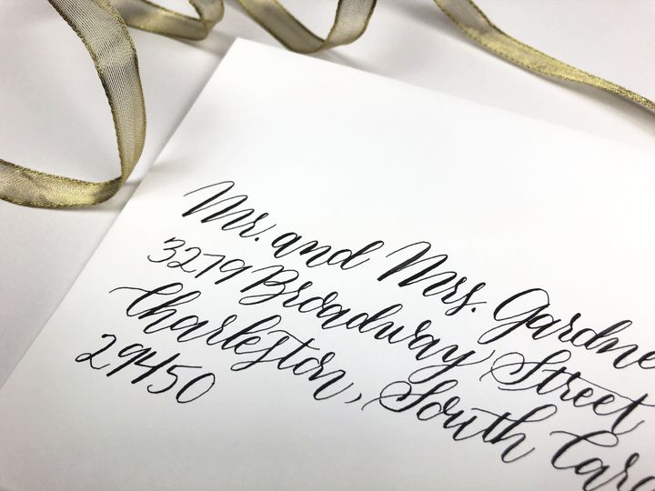 Envelope Calligraphy - Modern Style