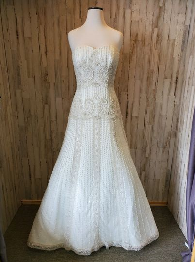 White gown for the big day