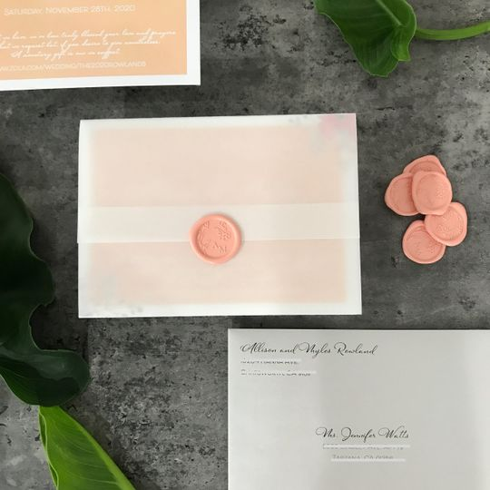 Vellum and wax seal
