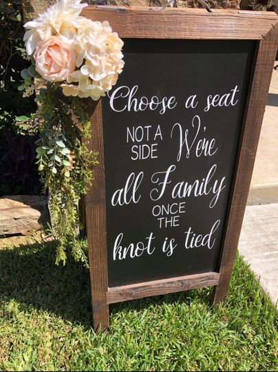 Chalkboard with florals