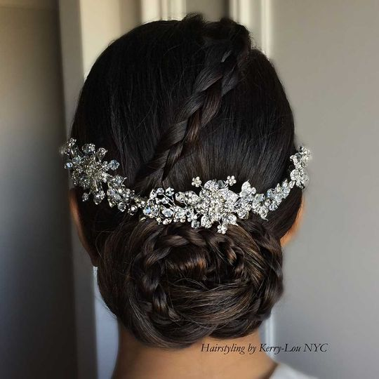 Braided hair updo