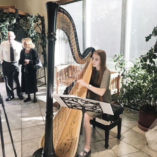 Performing at an indoor wedding reception