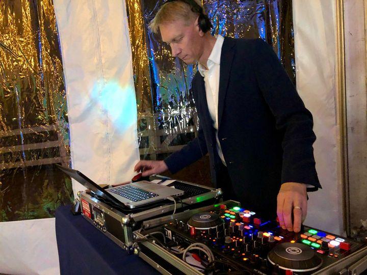 A focused DJ