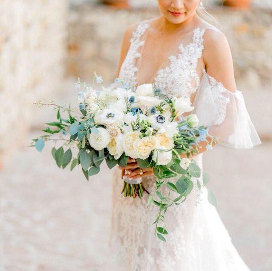 Natural garden bridal bouquet