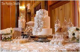 Wedding cake and treats table