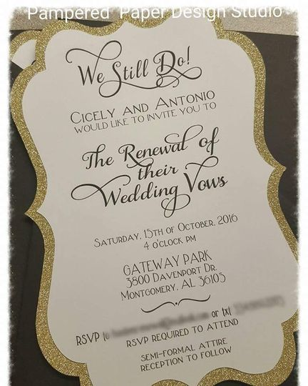 Die shape wedding invitation