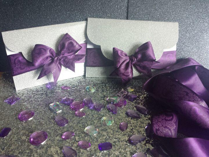Violet invitation