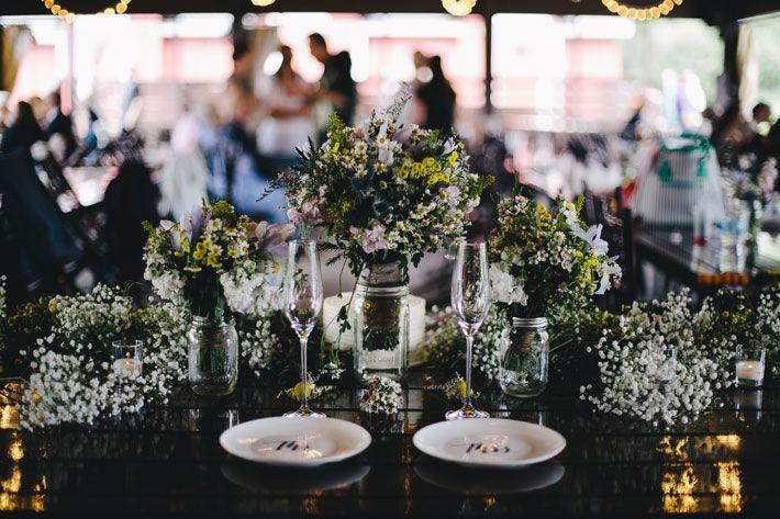 Dainty wedding setup