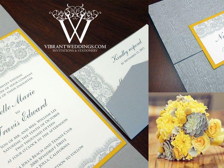 Tmx 1465496882961 Wedgraysunflowerylwgatefldblog Chula Vista wedding invitation