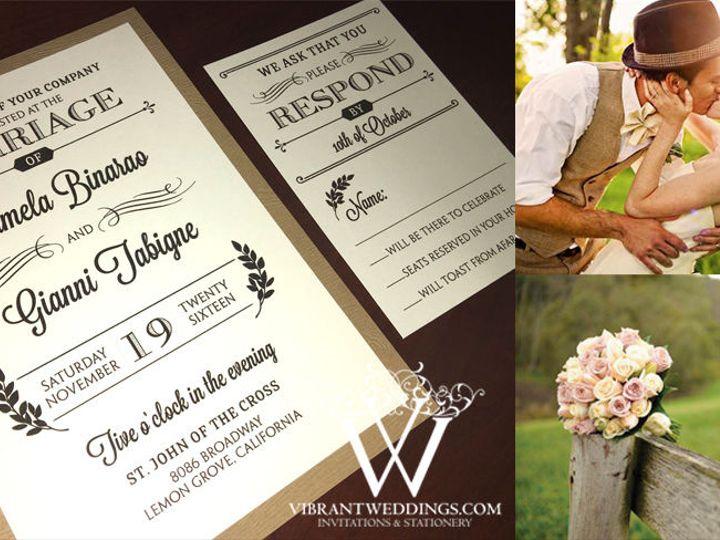 Tmx 1535122499 87e23a8e2a9ca78b 1535122498 2faba7acc4fd8553 1535122497590 2 Invite BrwnVintage Chula Vista wedding invitation
