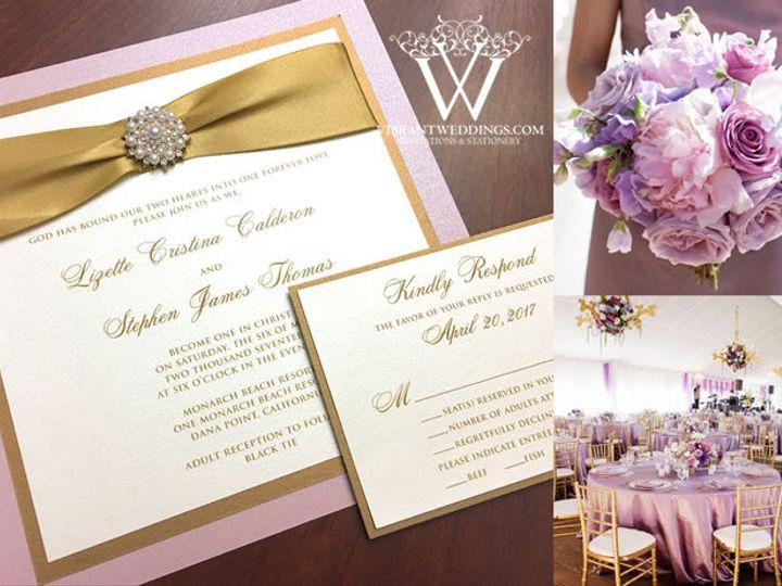 Tmx 1535122521 741b893d2e83848d 1535122520 D600061fcc468c2a 1535122519751 3 Wed Blush GoldPear Chula Vista wedding invitation