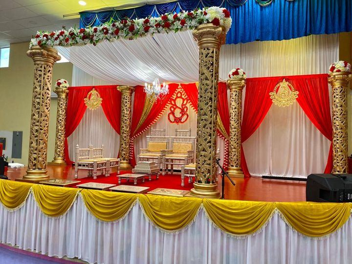 Tmx Carved Mandap Column With Floating Celing Chandlier 51 1061543 160523258122817 Towson, MD wedding eventproduction