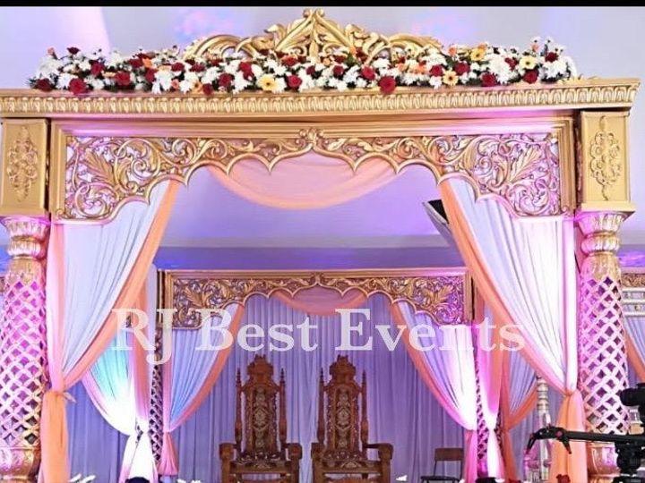 Tmx Lotus Column Gold White Mandap With Crown 51 1061543 160523258388785 Towson, MD wedding eventproduction