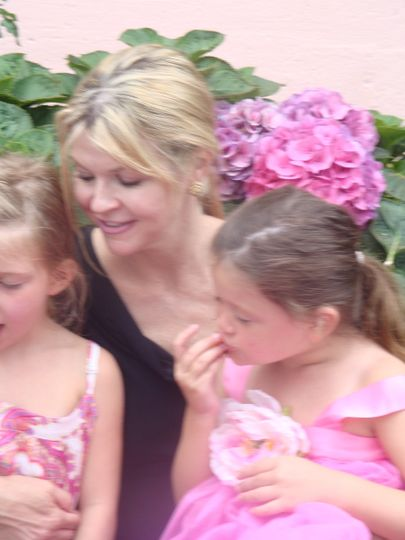 Officiant with the flower girls