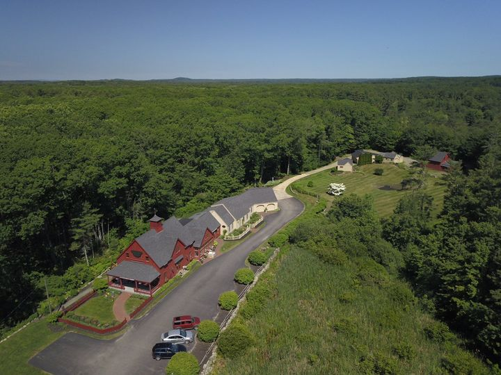 Drone image of entire property