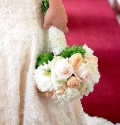 bride bouquet with lace smaller