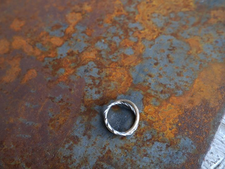 Tmx 1431891628662 Crossing Arcs Rust Weddingring Grand Rapids, MI wedding jewelry