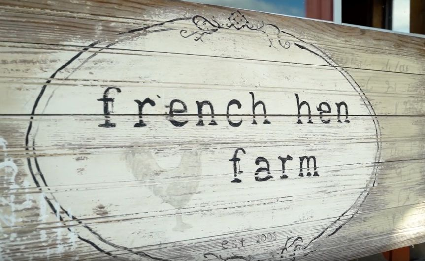French hen farm
