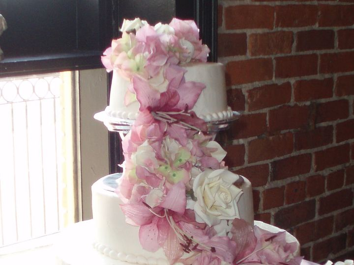 Tmx 1446409271856 Pink Cascade Buffalo, NY wedding cake