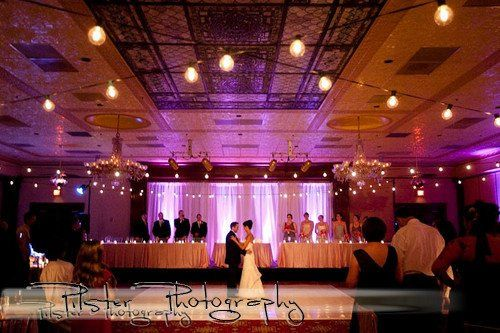 Drape for Bridal Party Table. Location: Ballroom at Church Street