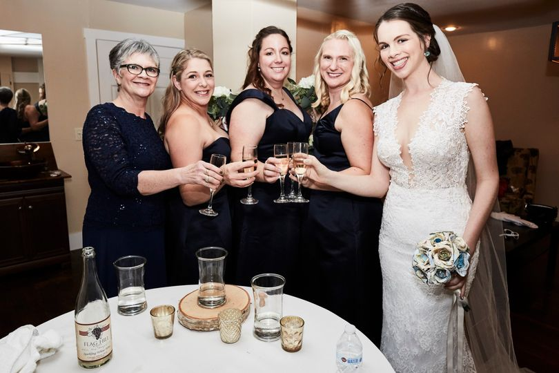 A stylish bridal party