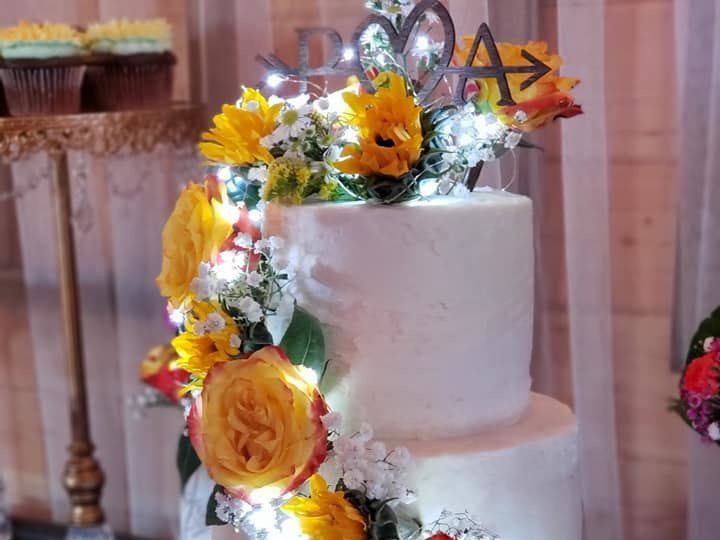 Tmx 1528688938 6185e17c63239b8f 1528688937 9b5b9c3afb6edf88 1528689762225 3 Sunflower 1 Olympia, WA wedding cake