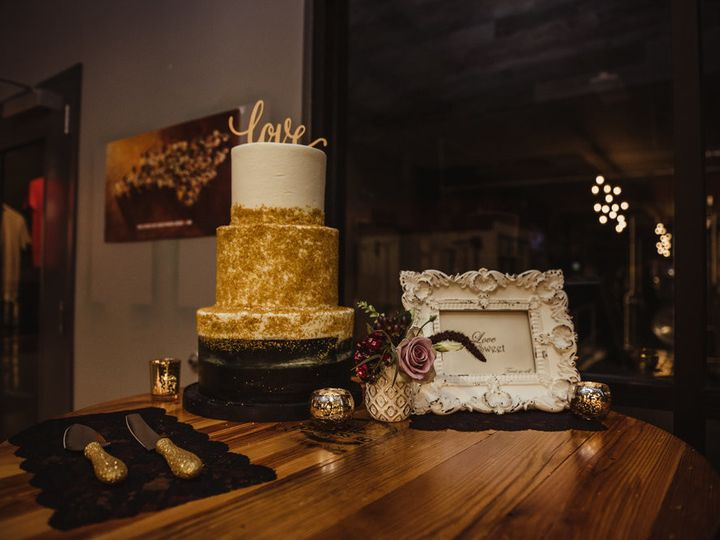 Tmx 1515025653723 Black And White And Gold Wedding Cake Raleigh wedding cake