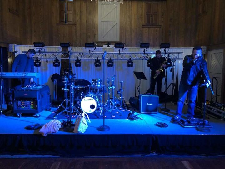 Stage setup at Normandy Farm
