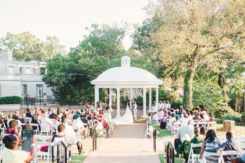 Sun drenched ceremony