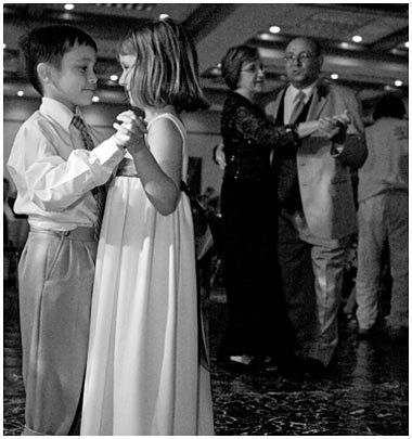 She insisted on dancing with him, but he didn't know how to dance with a girl, so she showed him....