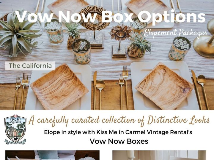 Tmx Vow Now Box Options 51 1899543 158978202689038 Carmel By The Sea, CA wedding rental
