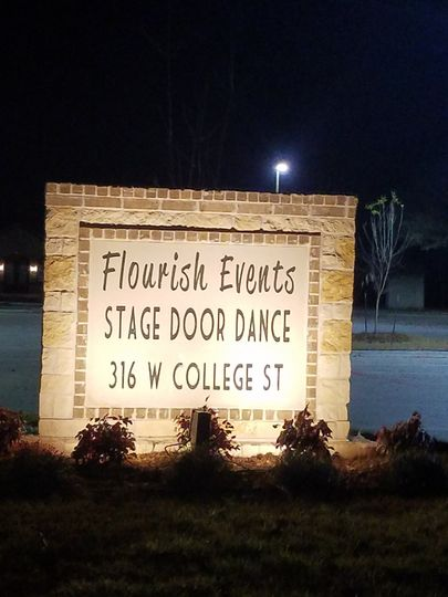 Flourish Entrance Sign