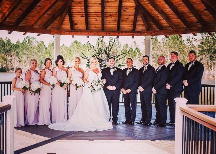 Bridal party in the gazebo