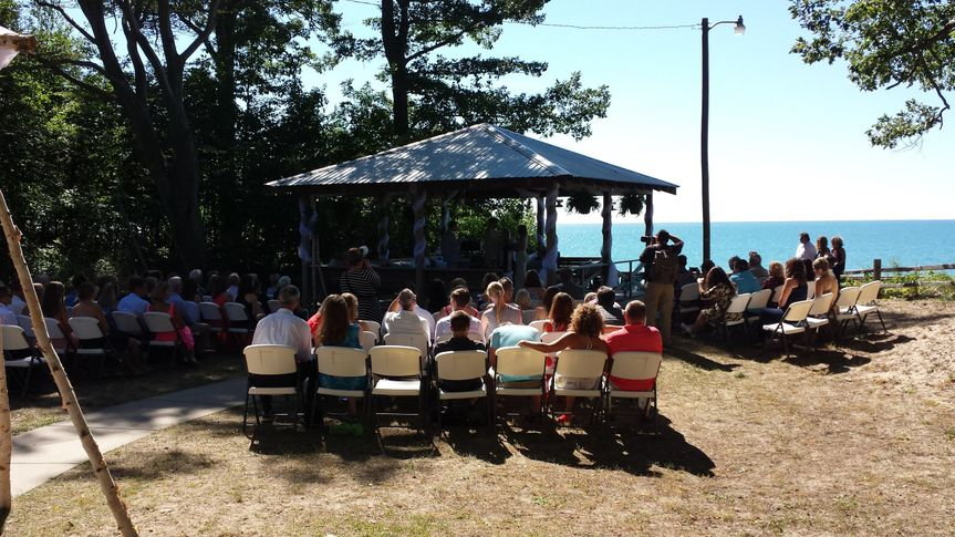Ceremony near Lake Michigan