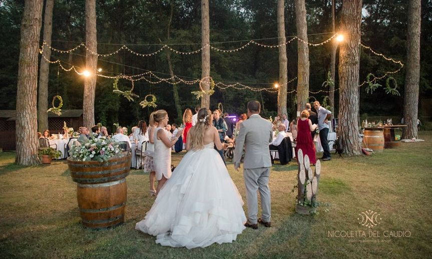 Wedding dinner in the trees
