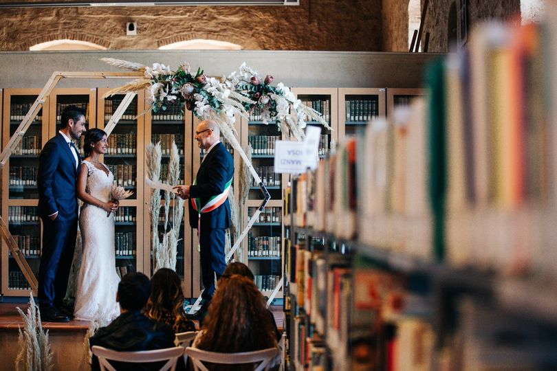 Ceremony in a library