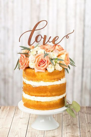 Naked Cake Flowers - Peach