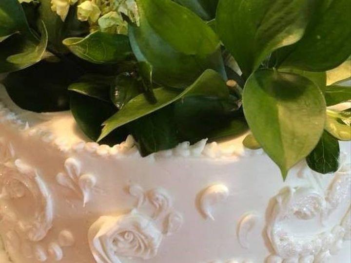 Tmx Scroll With Greenery 51 973643 1556548727 Beaumont wedding cake