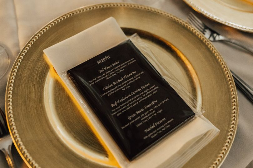 Custom Chocolate Menu on Plate